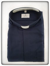 CAMICIA CLERGY COTONE BLU MAN. LUNG. TG. 44