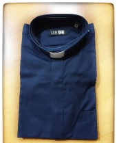 CAMICIA CLERGY DIAGONALE BLU TG. 44