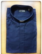 CAMICIA DIAGONALE BLU MAN. LUNG. TG. 42